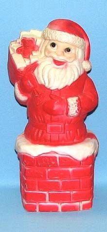 Santa On Chimney photo