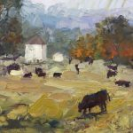 Cows and Old Farmhouse 11x14