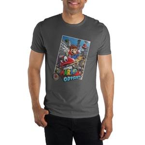 Super Mario Odyssey Logo Men's Black T-Shirt