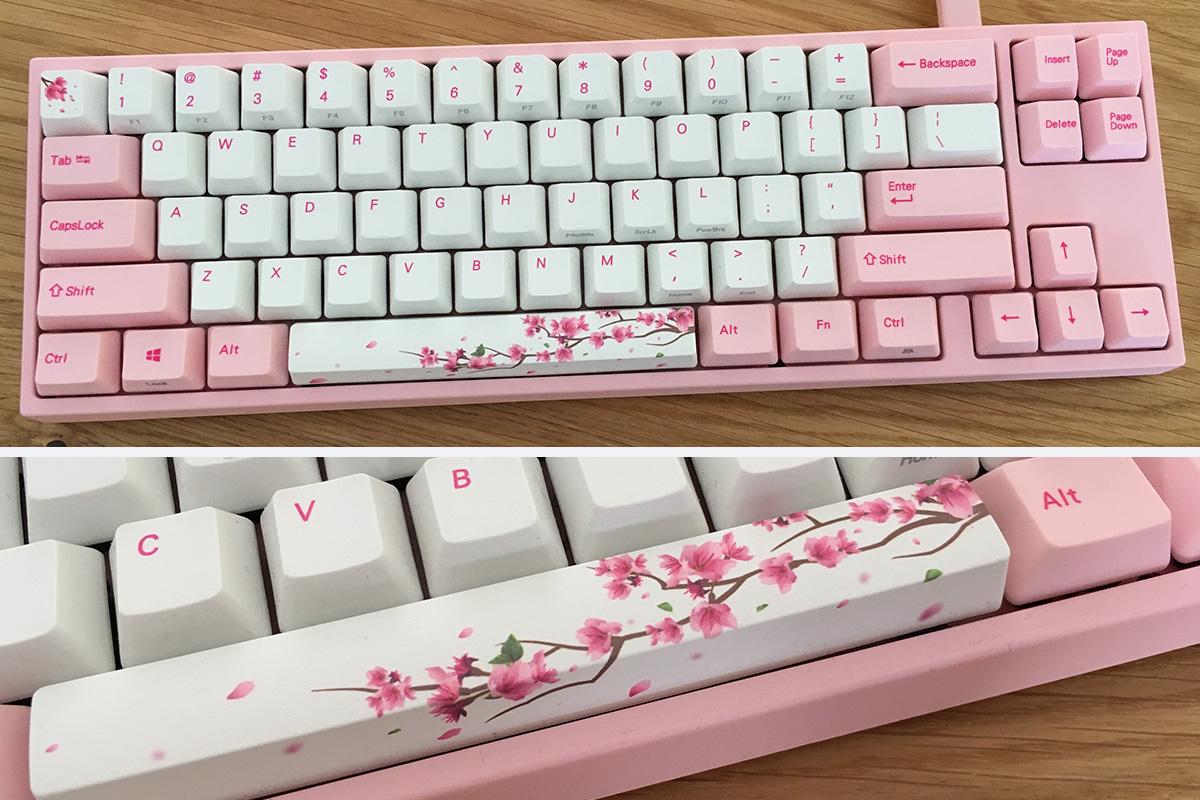 Mijn roze toetsenbord: Een Ducky Sakura