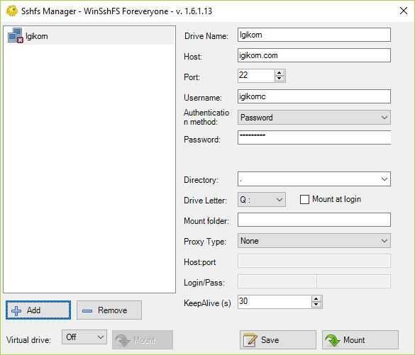SSHFS Windows 10