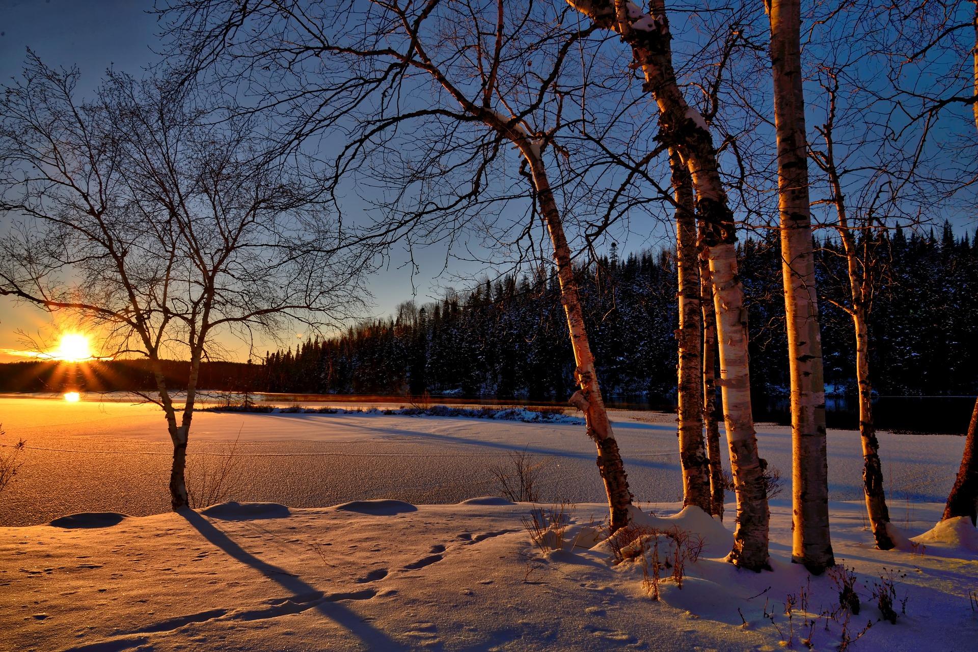 Lac Marco - terrain en hiver
