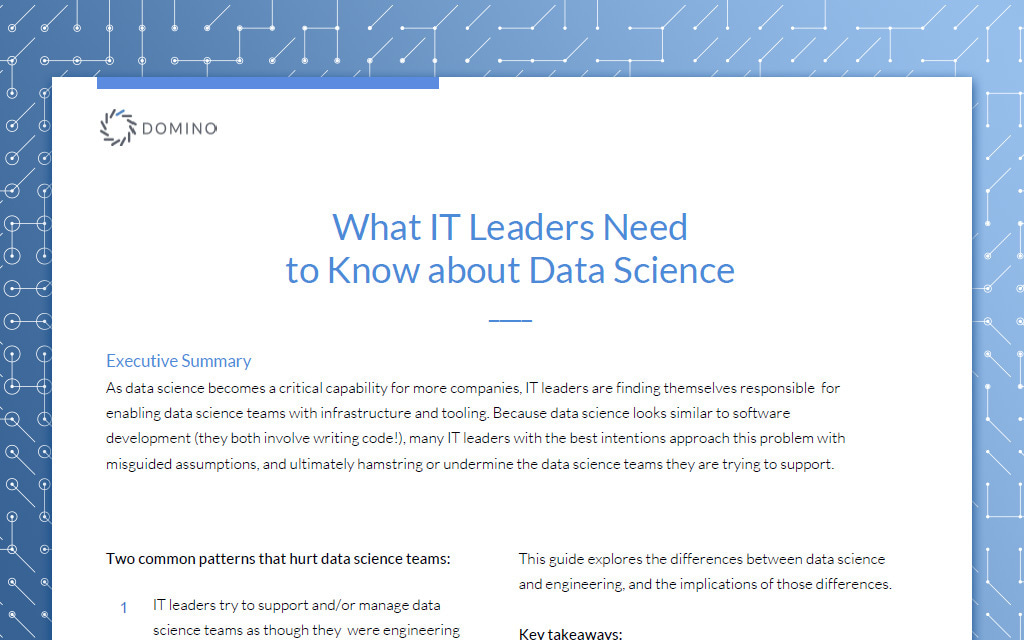 What IT Leaders Need to Know About Data Science