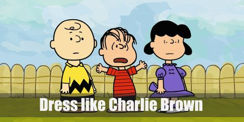 Charlie Brown's favorite outfit is now as iconic as he is. He loves wearing his yellow shirt with a black zigzag pattern on the bottom, black shorts, yellow socks, and brown Oxfords.