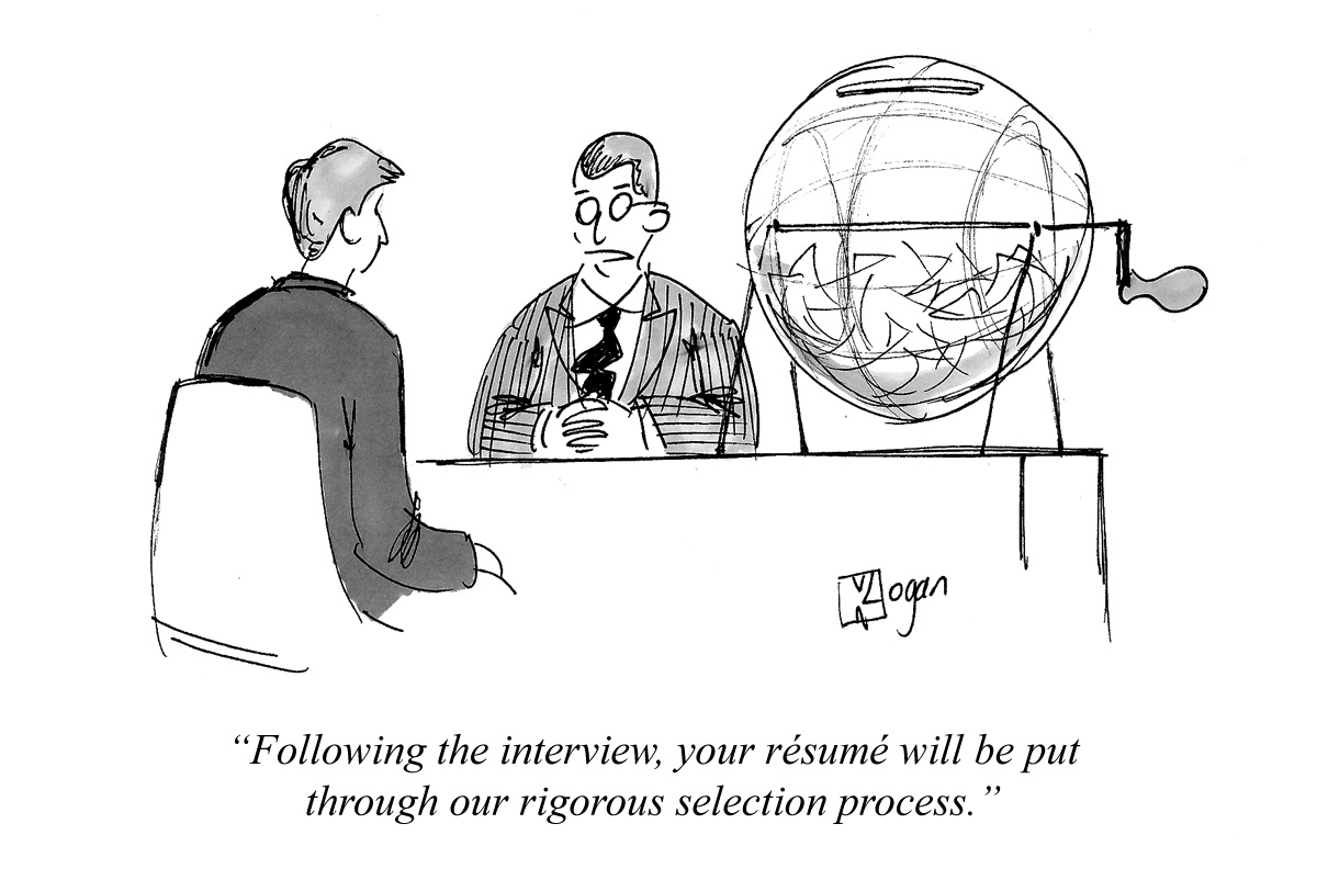 Following the interview, your resume will be put through our rigorous selection process.