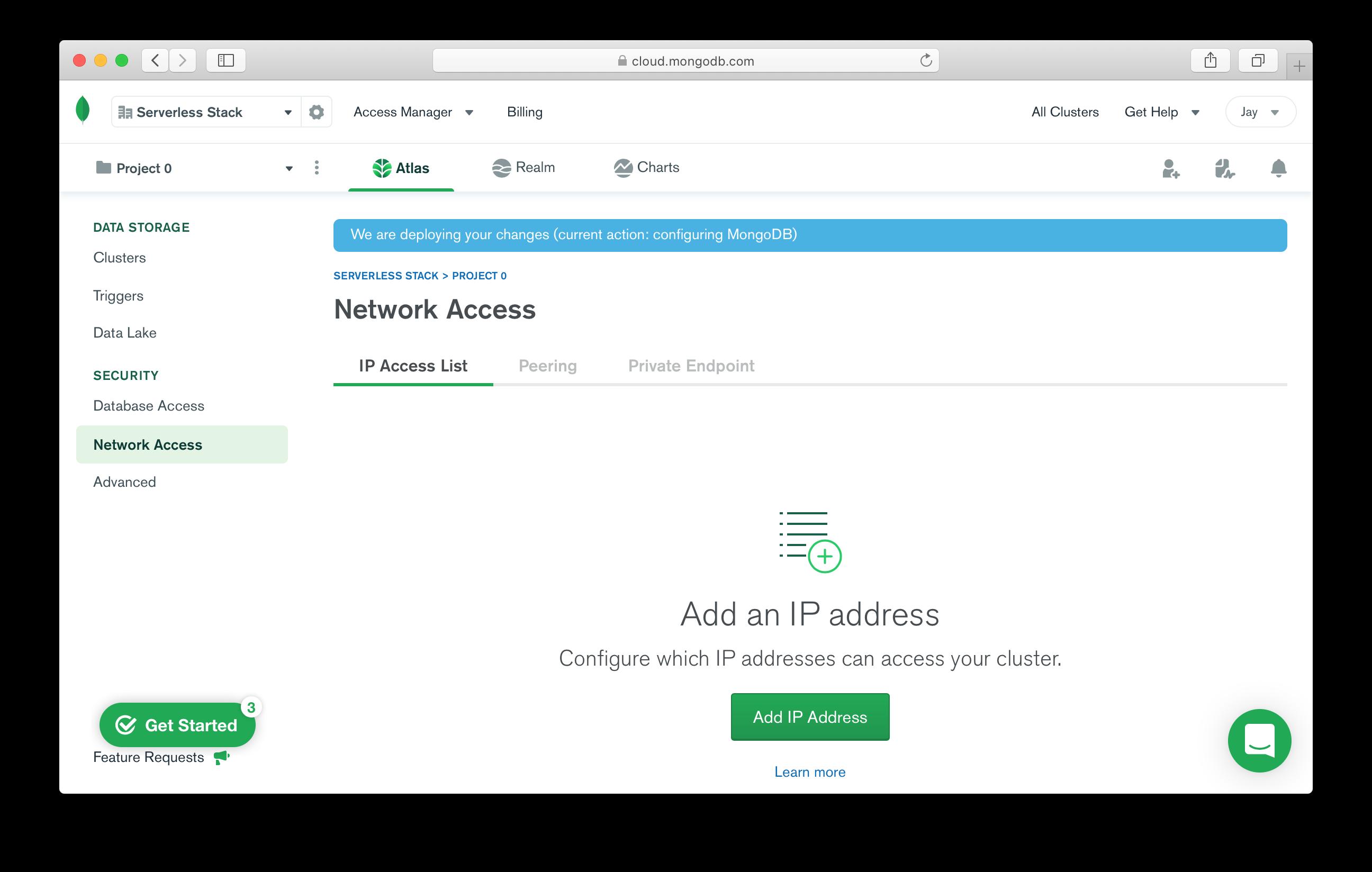 Add IP address network access