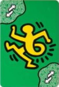 Uno Artiste No. 2: Keith Haring Green Uno Reverse Card