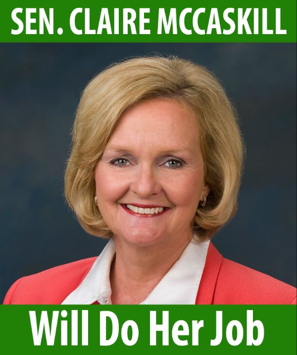 Senator McCaskill will do her job!