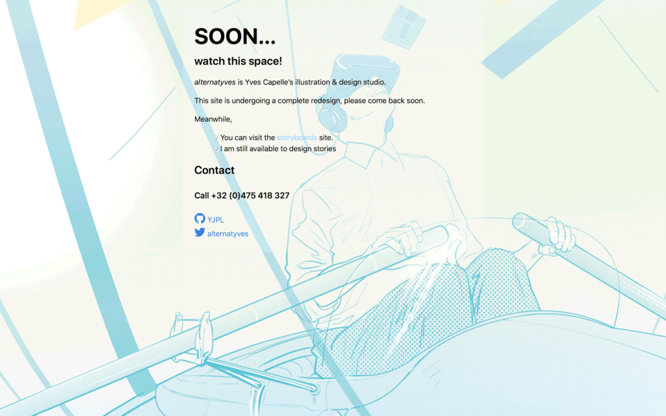 Coming soon page template for Jekyll, sample