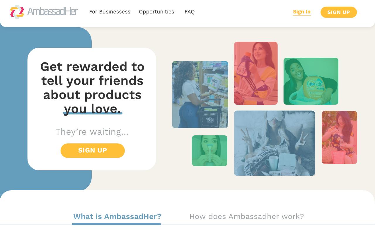 ambassadher - homepage