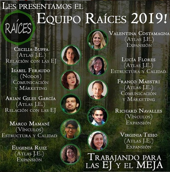 Raíces' team for 2019