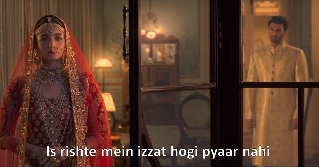 Aditya Roy Kapoor in Kalank Trailer Is rishte mein izzat hogi pyaar nahi