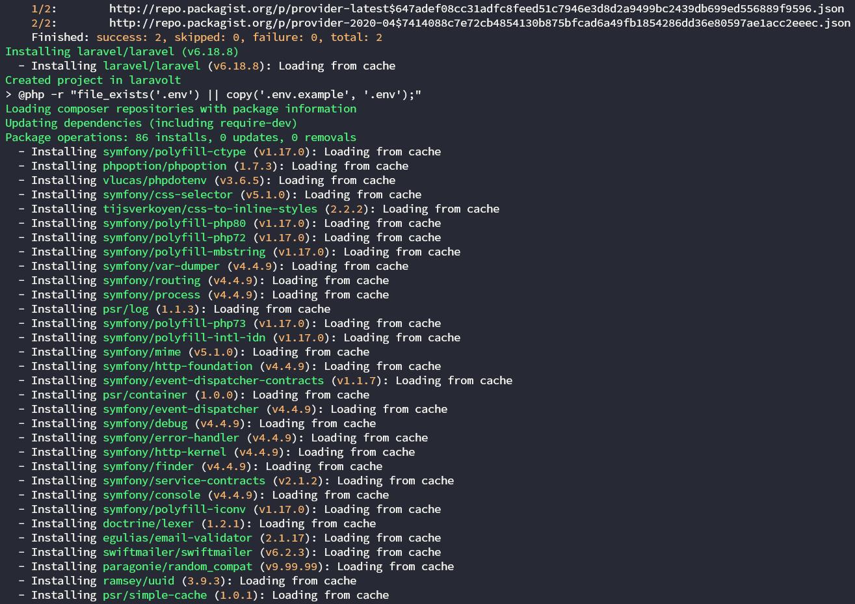 Install Laravel versi 6