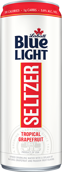 Labatt Blue Light Seltzer Tropical Grapefruit