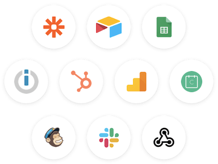 Connect Joonbot to your favorite apps using Zapier, our webhooks or our native integrations.