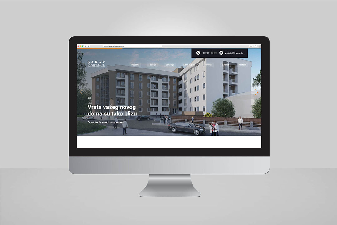 Project Saray Residence Real Estate, Website Design, Programming, SEO Optimization, Social Media
