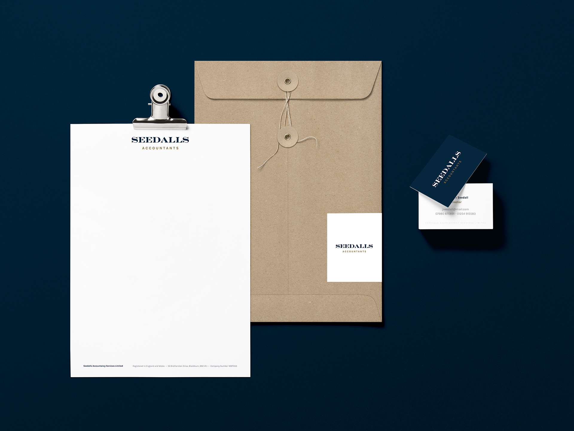 Branding and identity design for a next generation accountancy firm, Seedalls Accountancy Services
