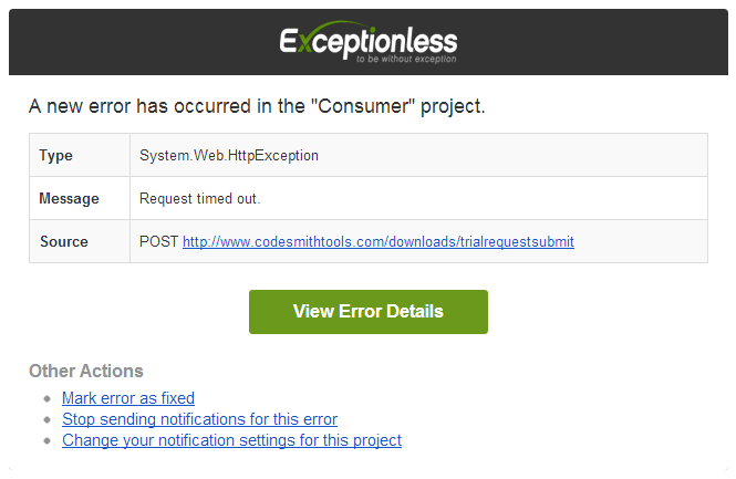 ASP.NET Error Notifications