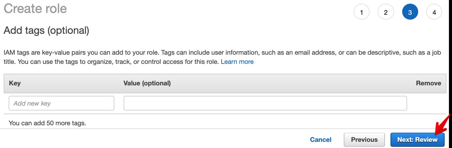 AWS Create Role - Add Tags