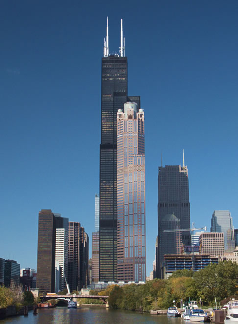 Sears Tower as viewed during an architecture boat tour.