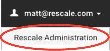 Rescale Admin