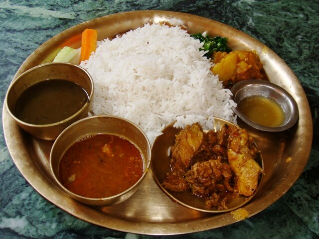 Dal Bhat Nepali Food