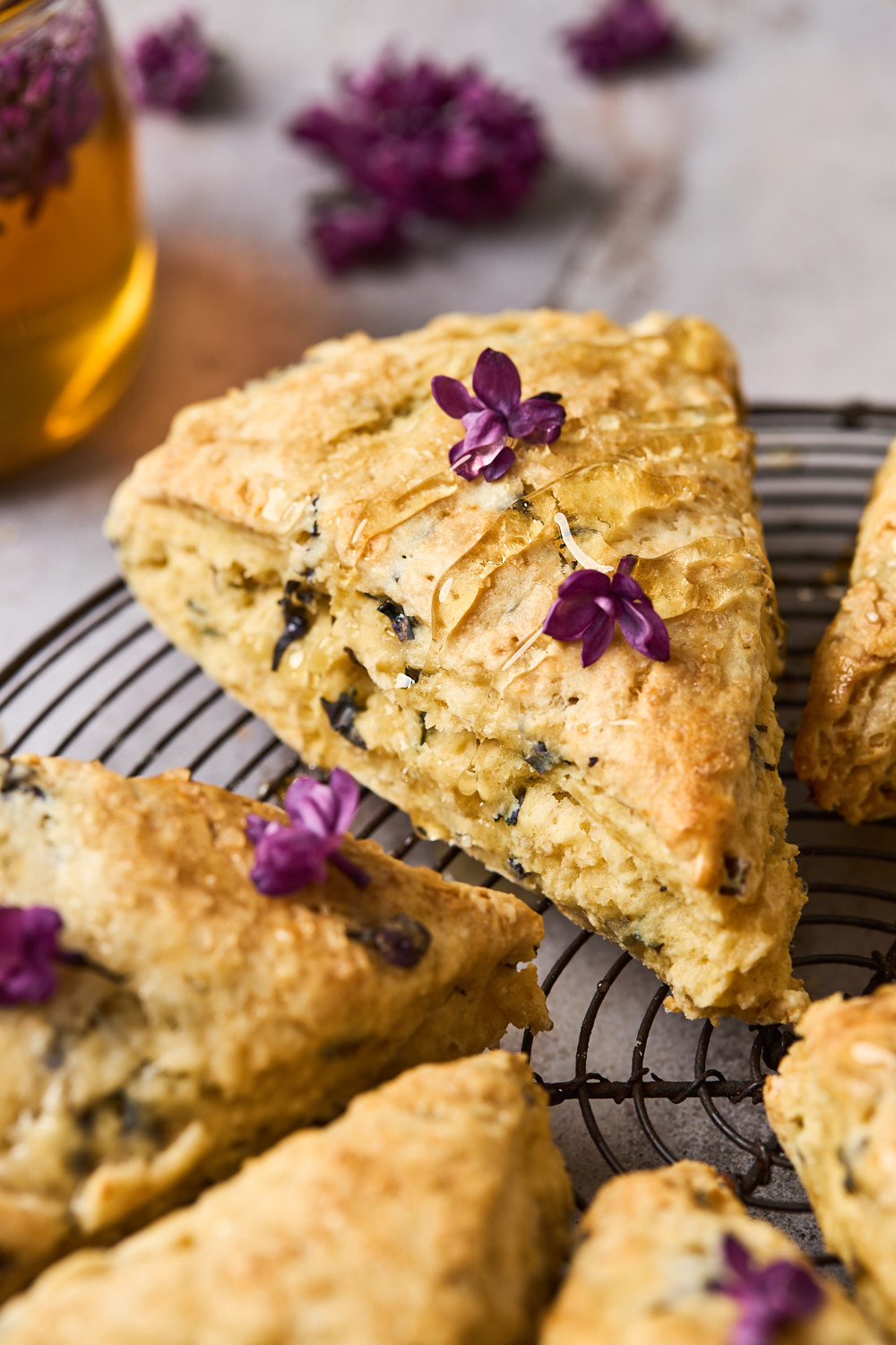 Buttermilk Honey Scones With Lilac