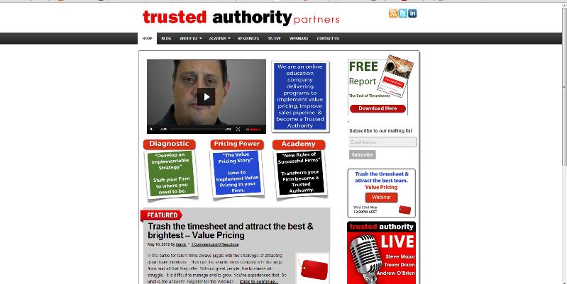 Trusted Authority Partners Website Screenshot