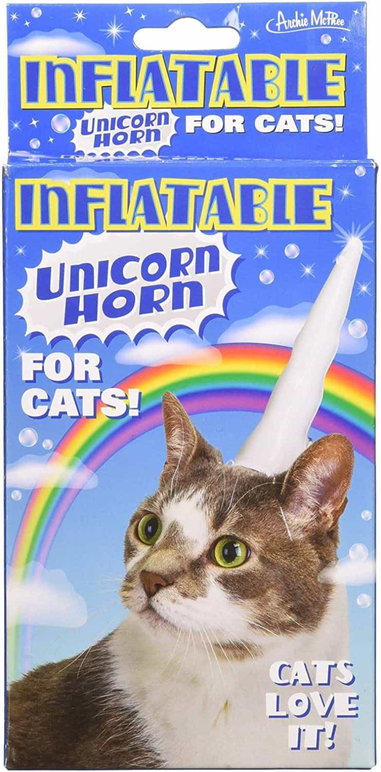 Inflatable Cat Unicorn Horn