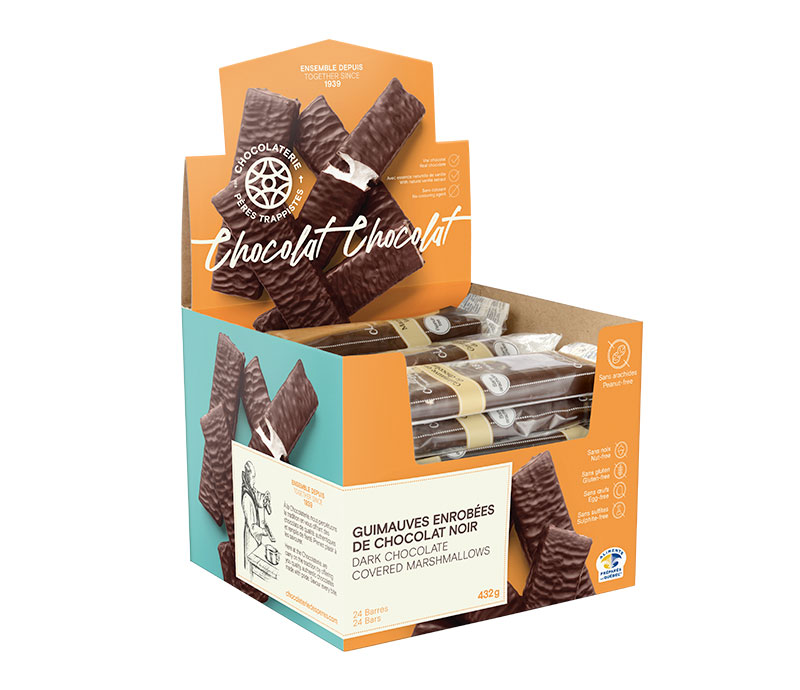 Chocolat Guimauves enrobées de chocolat noir 10