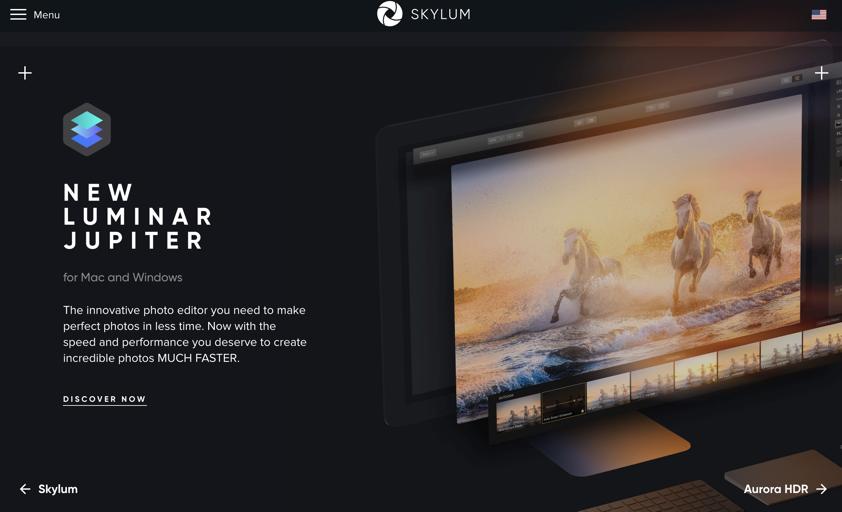 Skylum homepage