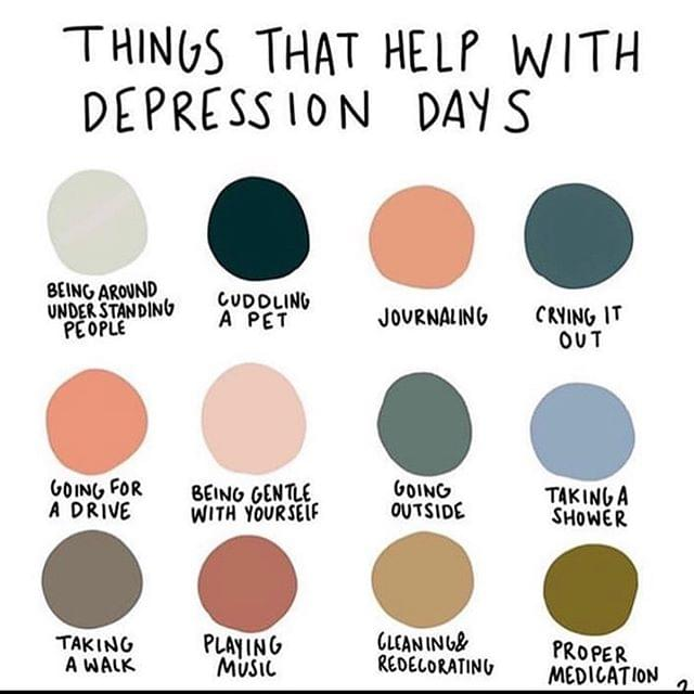 Things that help with depression days
