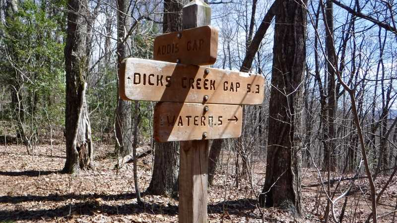 Sign to Dick's Creek Gap