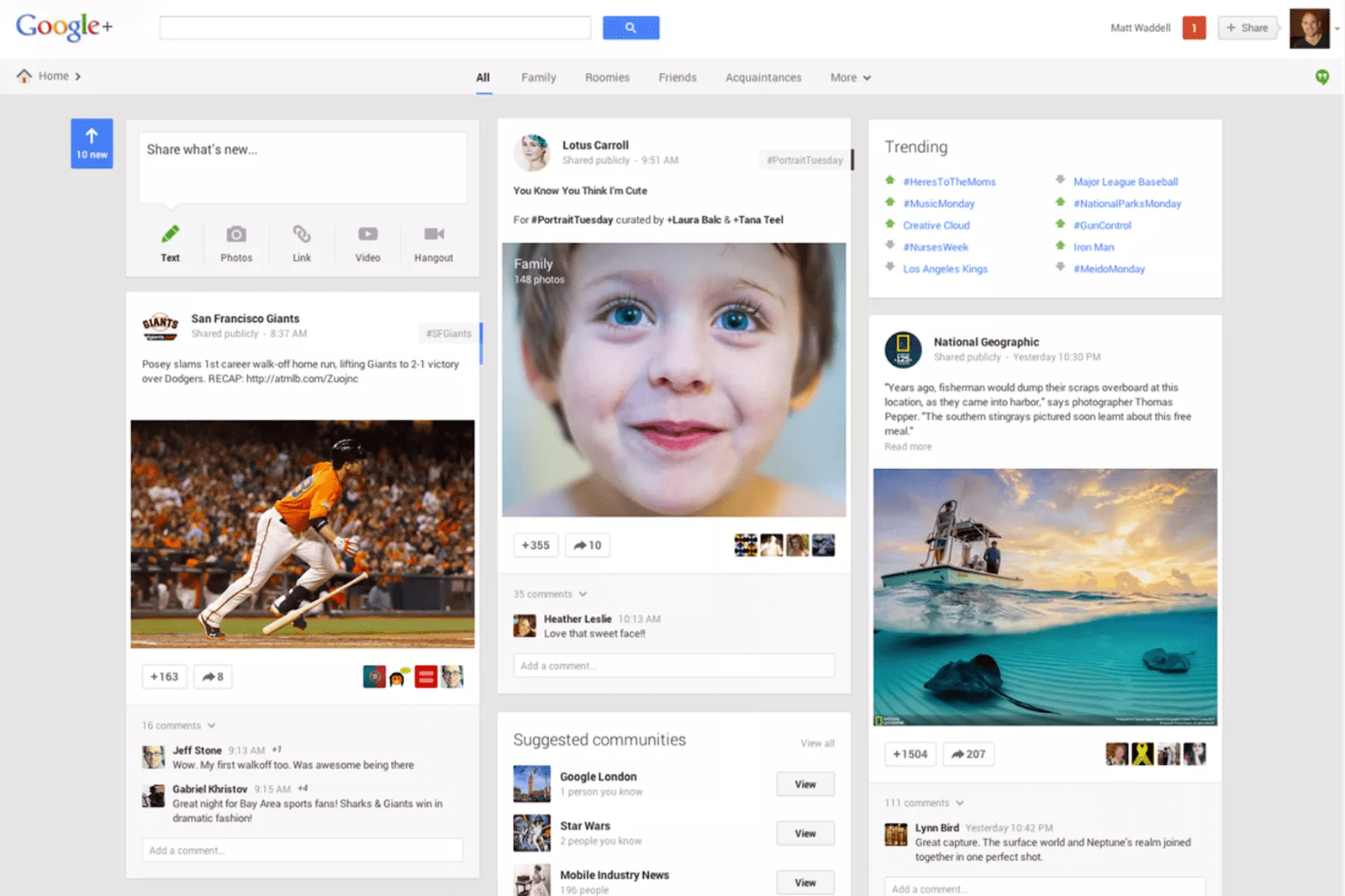 Google Plus's 2013 Redesign