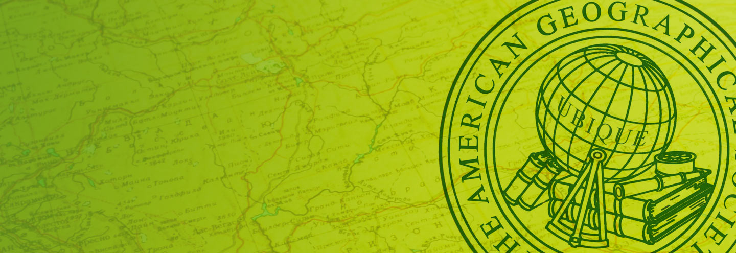Introducing the American Geographical Society