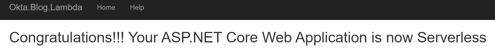 .NET serverless startup