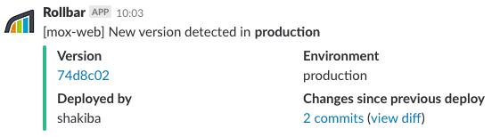 New Version notification in Slack