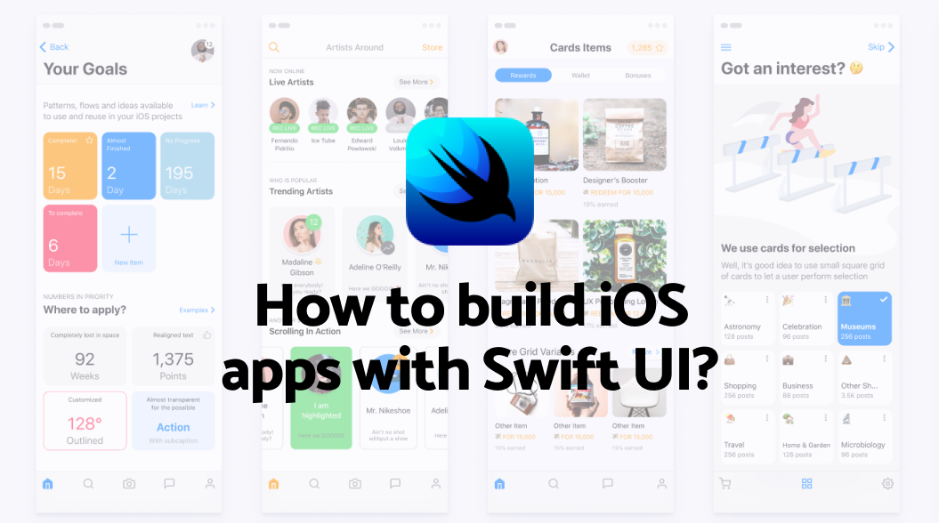 How to build iOS apps with swift UI?