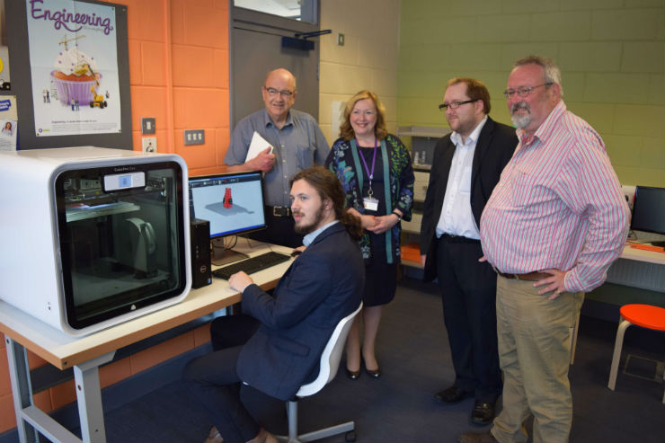 In the Lab: (L-R) Peter Callaghan, Henry Evans, Alison Wheeler, Jonathan Ogden and Tony Brown.
