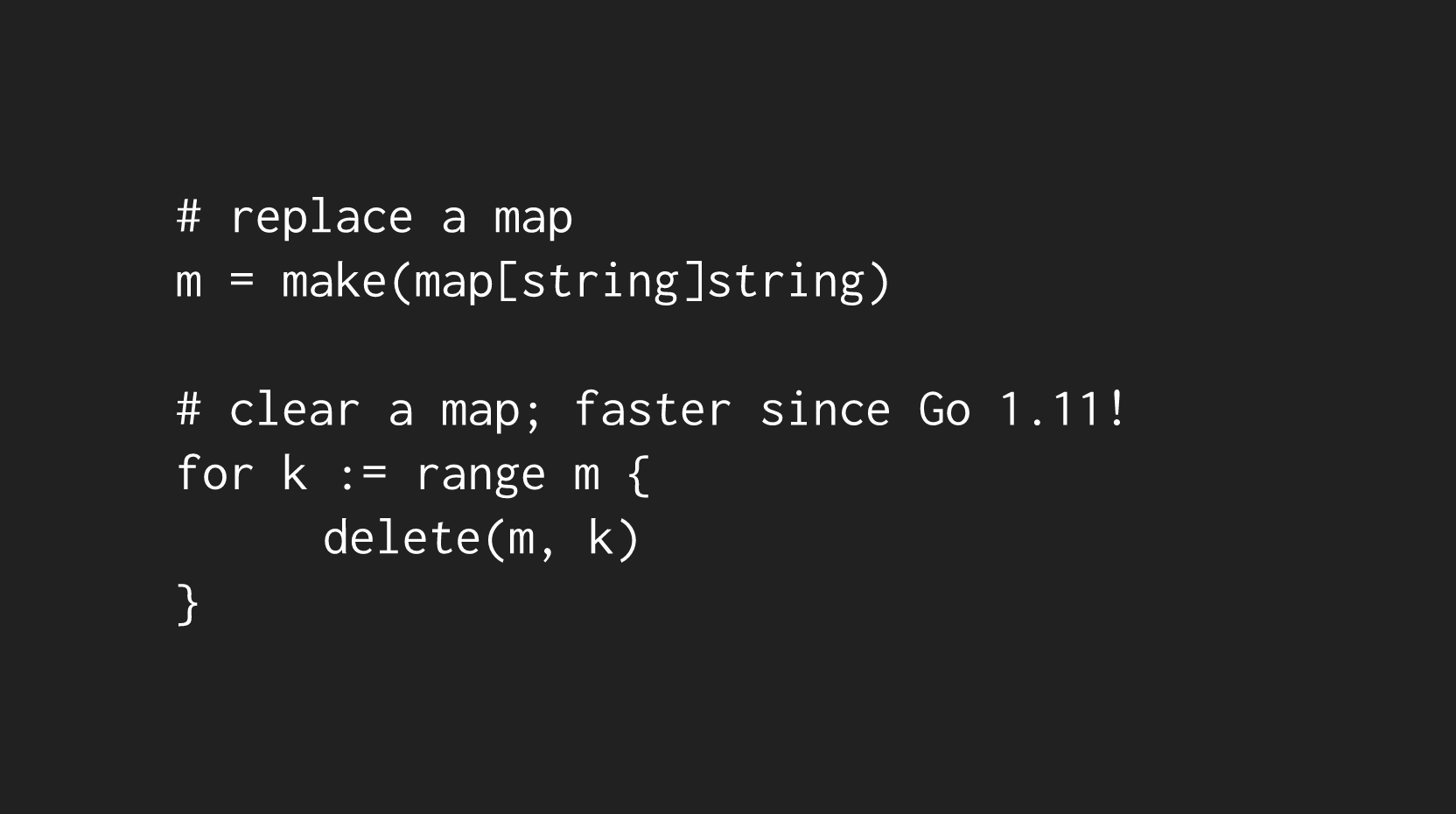 compiler clearing maps