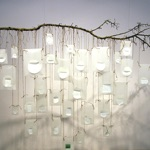 "Ilze Emse, Latvia. ""Winter"" 2012. Ceramic installation, 2x2m"