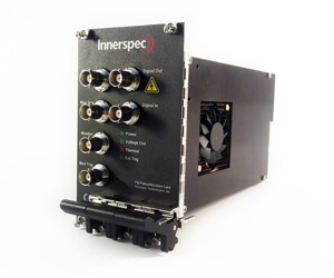 Innerspec PXI Pulser-Receiver Card Front-small