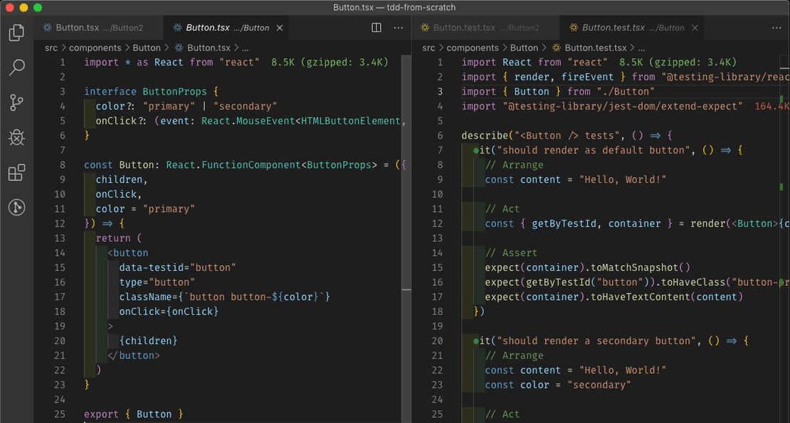 Visual Studio Code Split View - Perfect For Writing Tests