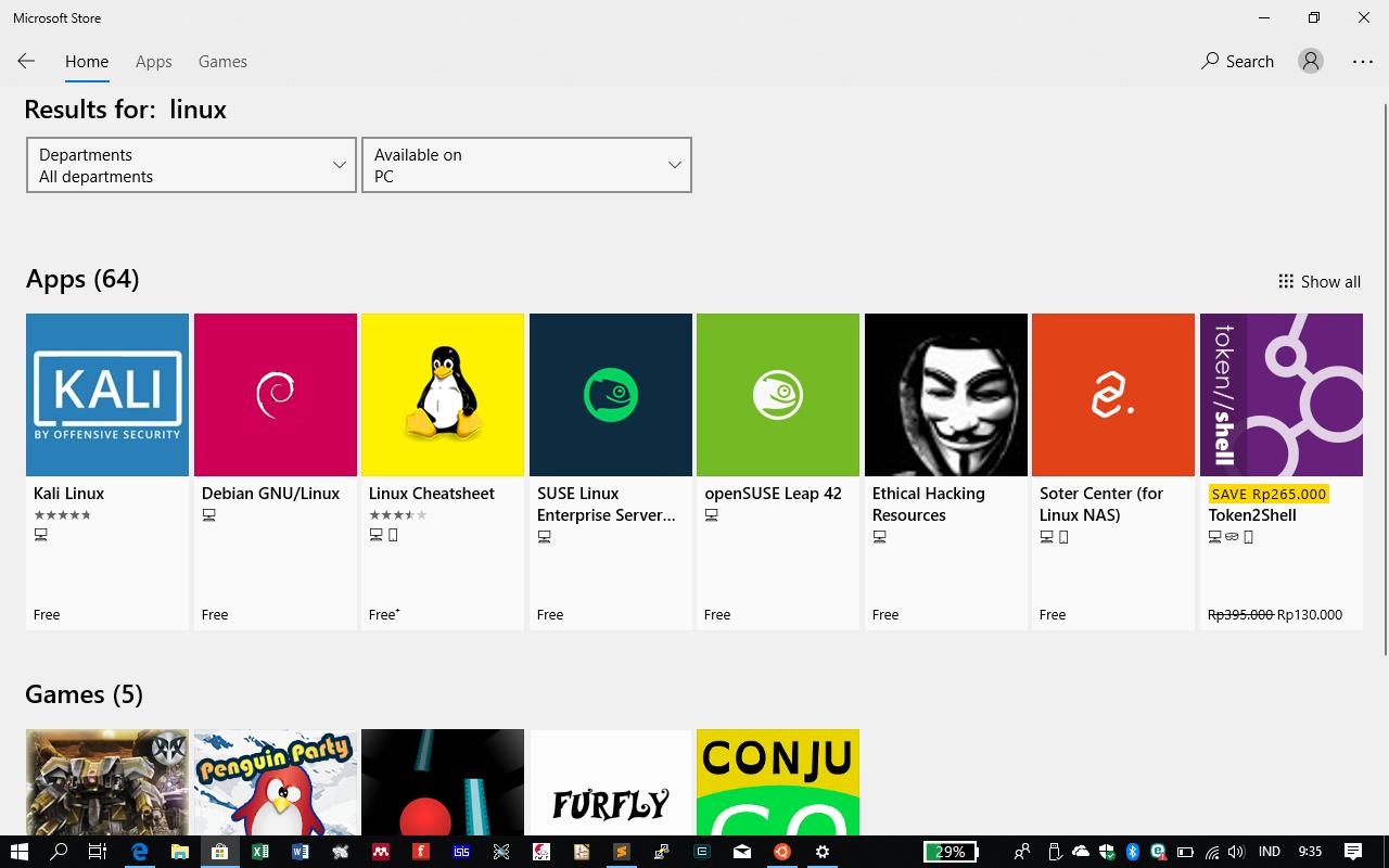 Linux di Ms. Store