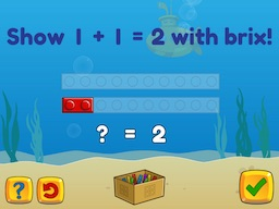 Basic addition within 5 using brix (known sum) Math Game