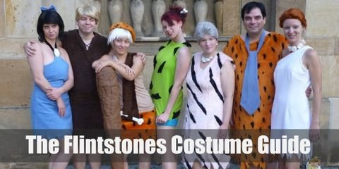 Dress like Bamm Bamm Rubble, Barney Rubble, Betty Rubble, Fred Flintstone, Pebbles Flintstone, Wilma Flintstone & The Great Gazoo from The Flintstones series.