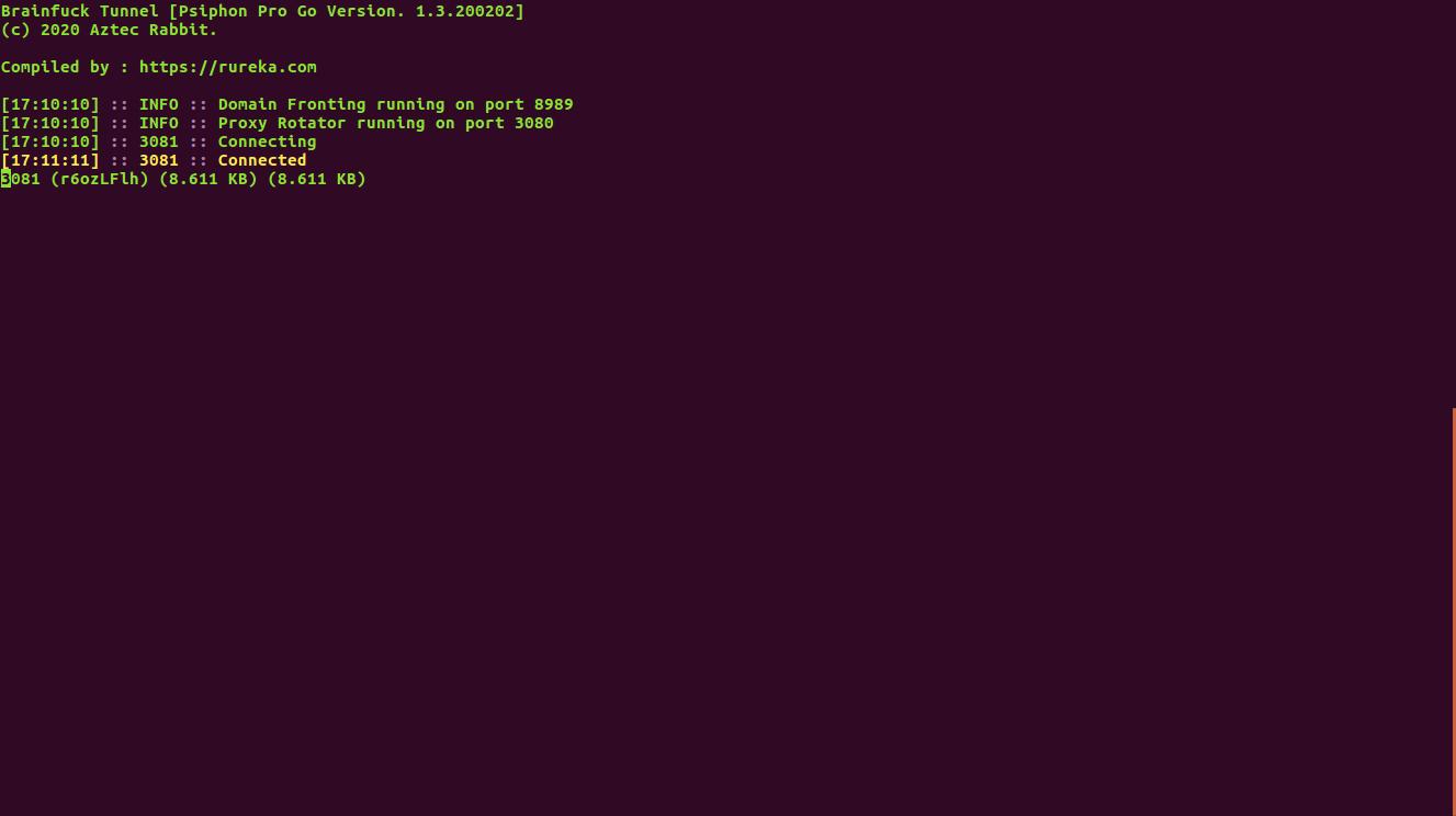 Cara Menggunakan Brainfuck Psiphon Pro di Rureka OpenWRT 18.06.5 Psiphon Pro Go Version