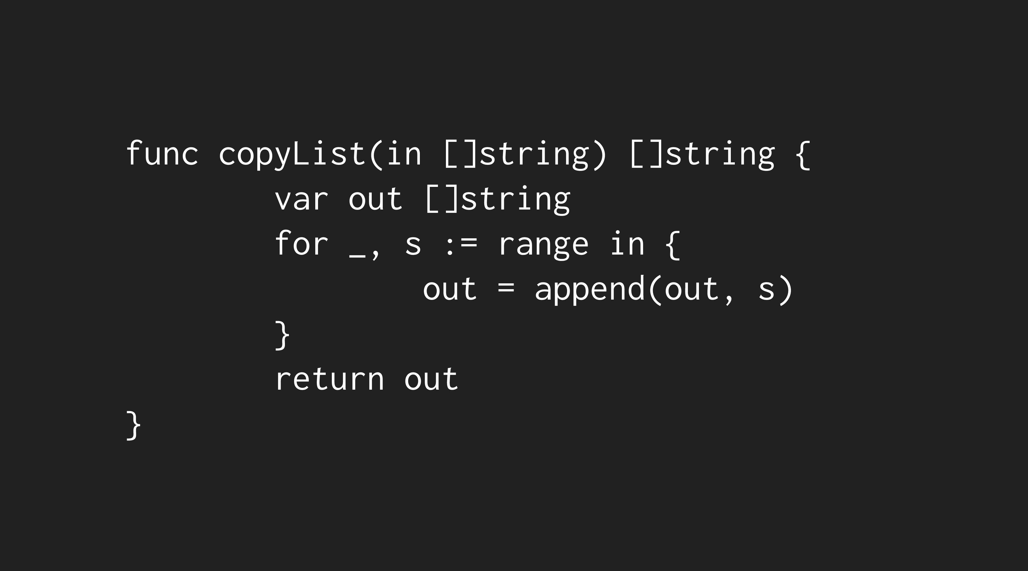 copyList code