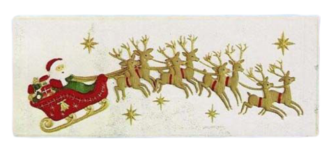 Santa With Sled And Eight Reindeer Plaque photo