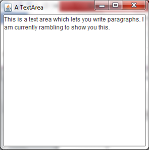 A text area